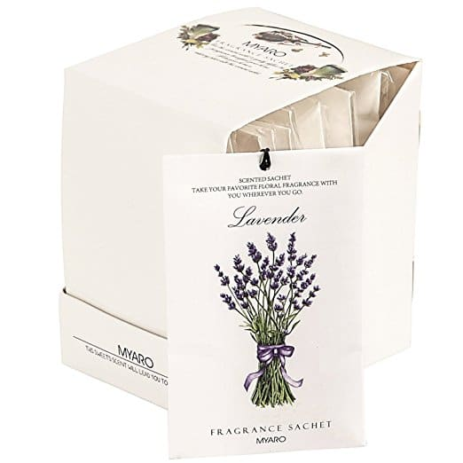 12 pk Lavender scented packets for closet and drawers. 6.79 ac amazon