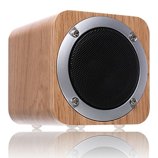 Wooden Bluetooth speaker 18.99 ac amazon $18.99