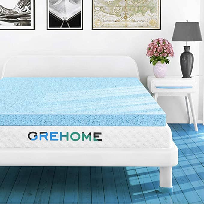 Memory foam gel infused mattress topper for twin and full $27.49