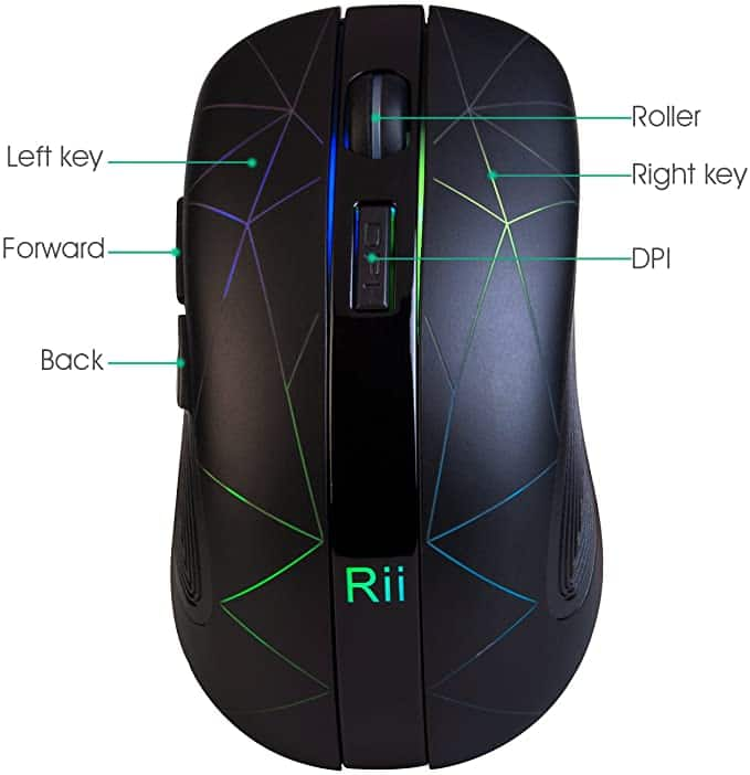 RGB Light up Wireless Mouse $13.29