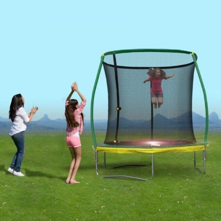 8 Ft Trampoline with Enclosure (220 lb capacity) $48.5