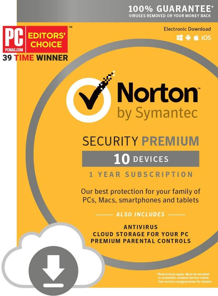 Norton Security with Backup (For 10 Devices) $36.99