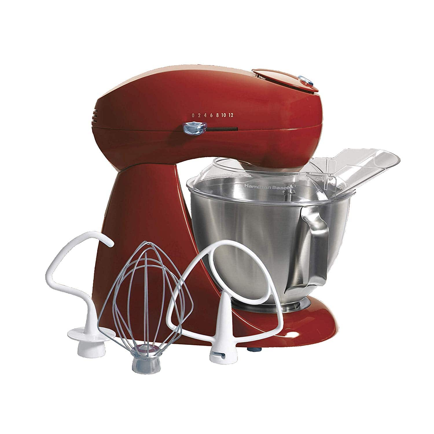 Hamilton Beach 63232 Eclectrics All-Metal Stand Mixer - Red for $139.99+FS