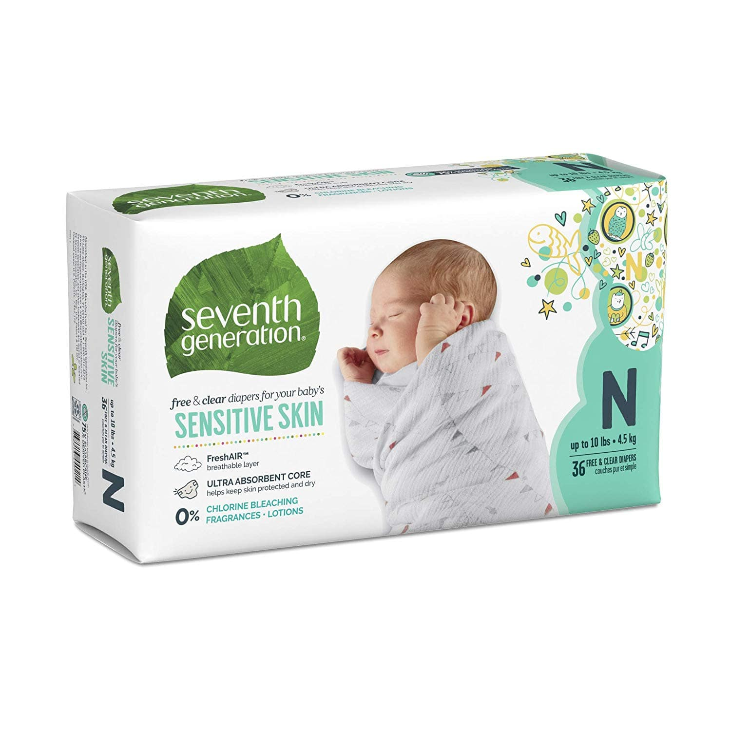 Extra 25% off Seventh Generation Diapers at Amazon $27.49