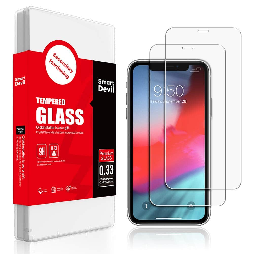 (2 Pack) Screen Protector for iPhone XR 6.1-Inch for $1.9