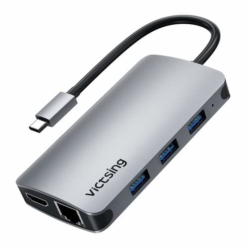 Victsing USB C Hub, 8-in-1 USB C Adapter with 4K USB C to HDMI, Ethernet Port, 3 USB 3.0 Ports PD Charging $24.99+FS