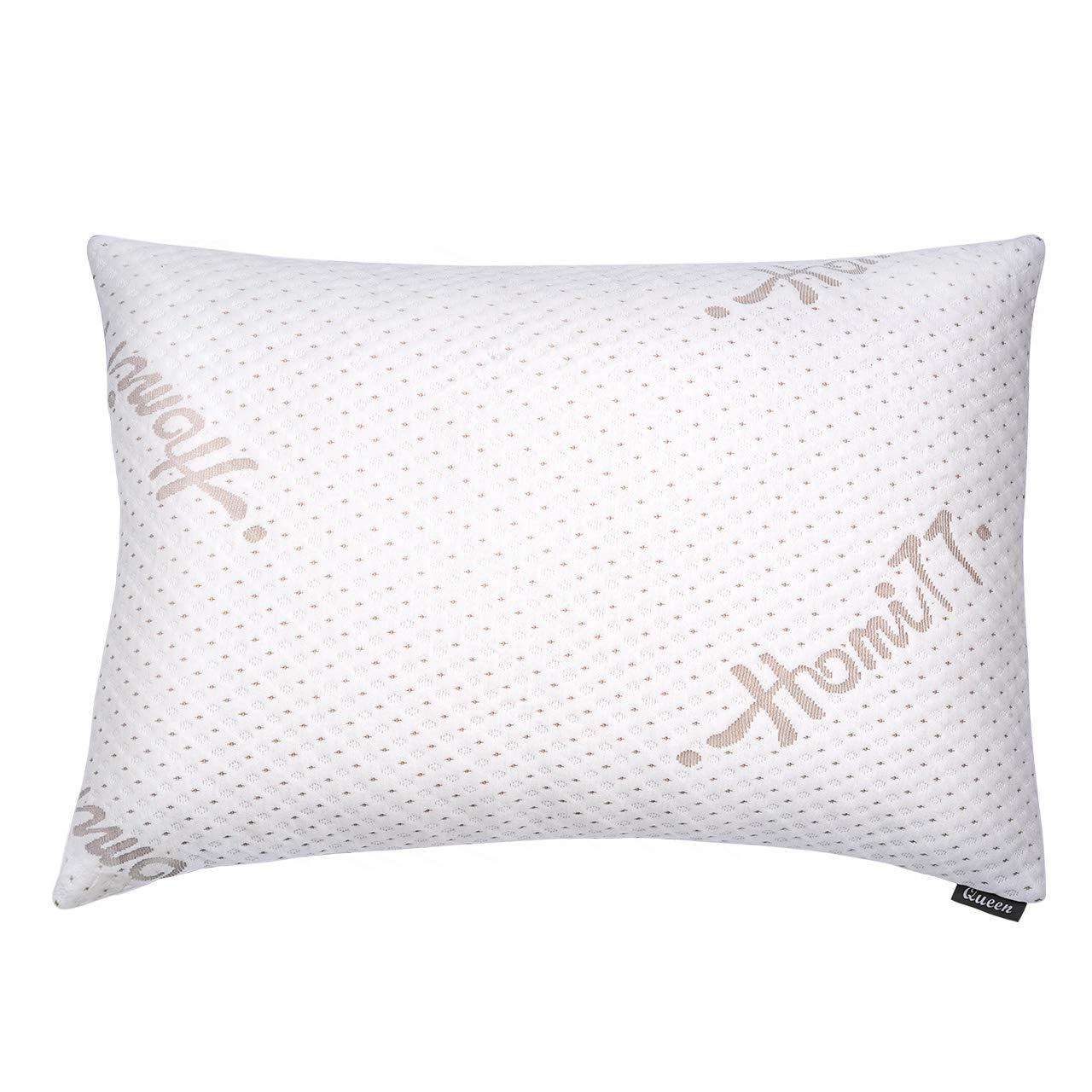 Homitt Shredded Memory Foam Pillow for Sleeping, Adjustable Bed pillow for $20+FS