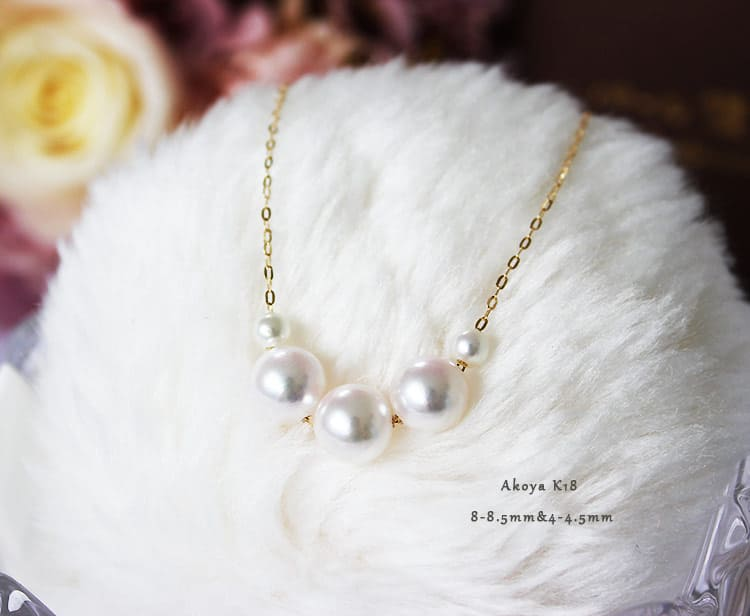 Japan Akoya pearl 8-8.5mm K18 Yellow Gold necklace Present for $115.85+FS