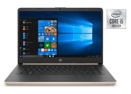 Hp 14 Laptop, Intel Core i5-1035G1, Intel UHD Graphics, 8 GB SDRAM, 256 GB M.2 Solid State Drive + 16GB Intel® Optane memory, Pale Gold 389$