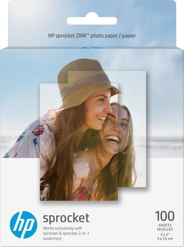 "HP - Sprocket ZINK(R) Photo 2"" x 3"" 100-Count Paper - White (Buy 1 Get 1) $44.99"