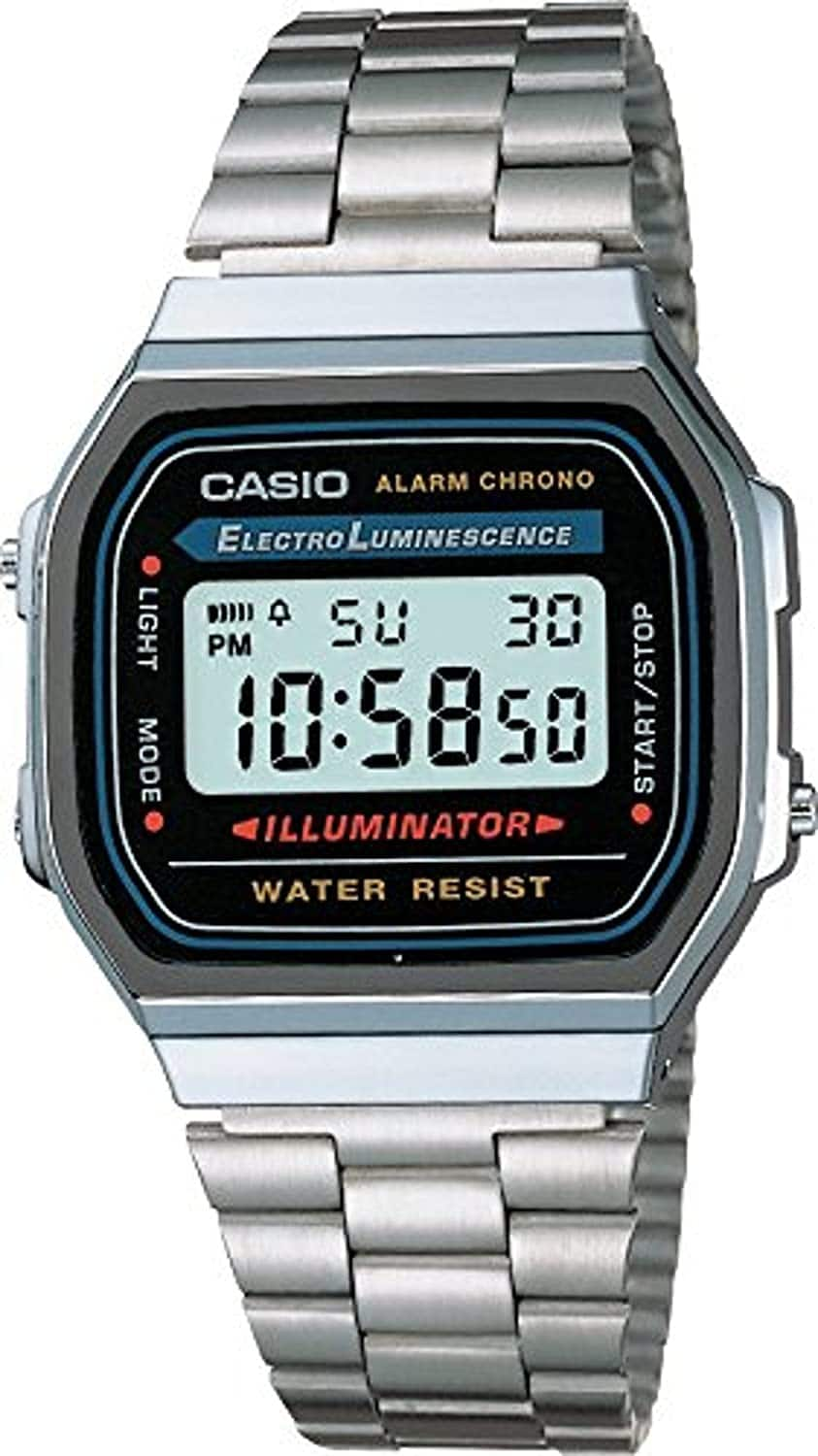 Casio Men's Vintage A168WA-1 Electro Luminescence Watch $18.82