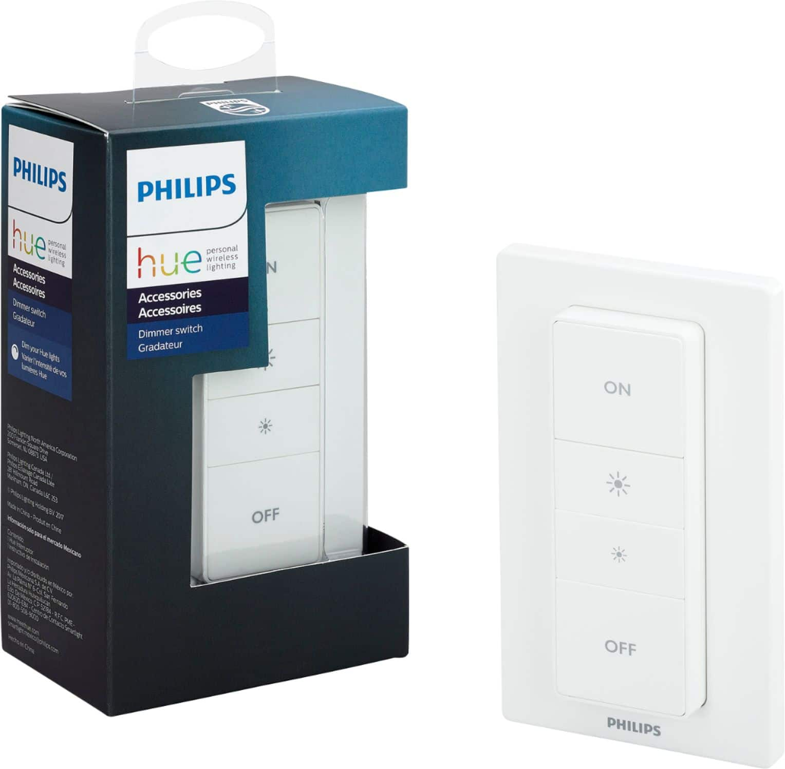 $24.99 Philips - Hue Wireless Dimmer Switch with Remote - White