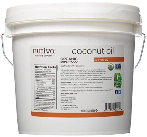 1-Gallon of Nutiva Organic Refined Coconut Oil $17.80 + Free Shipping