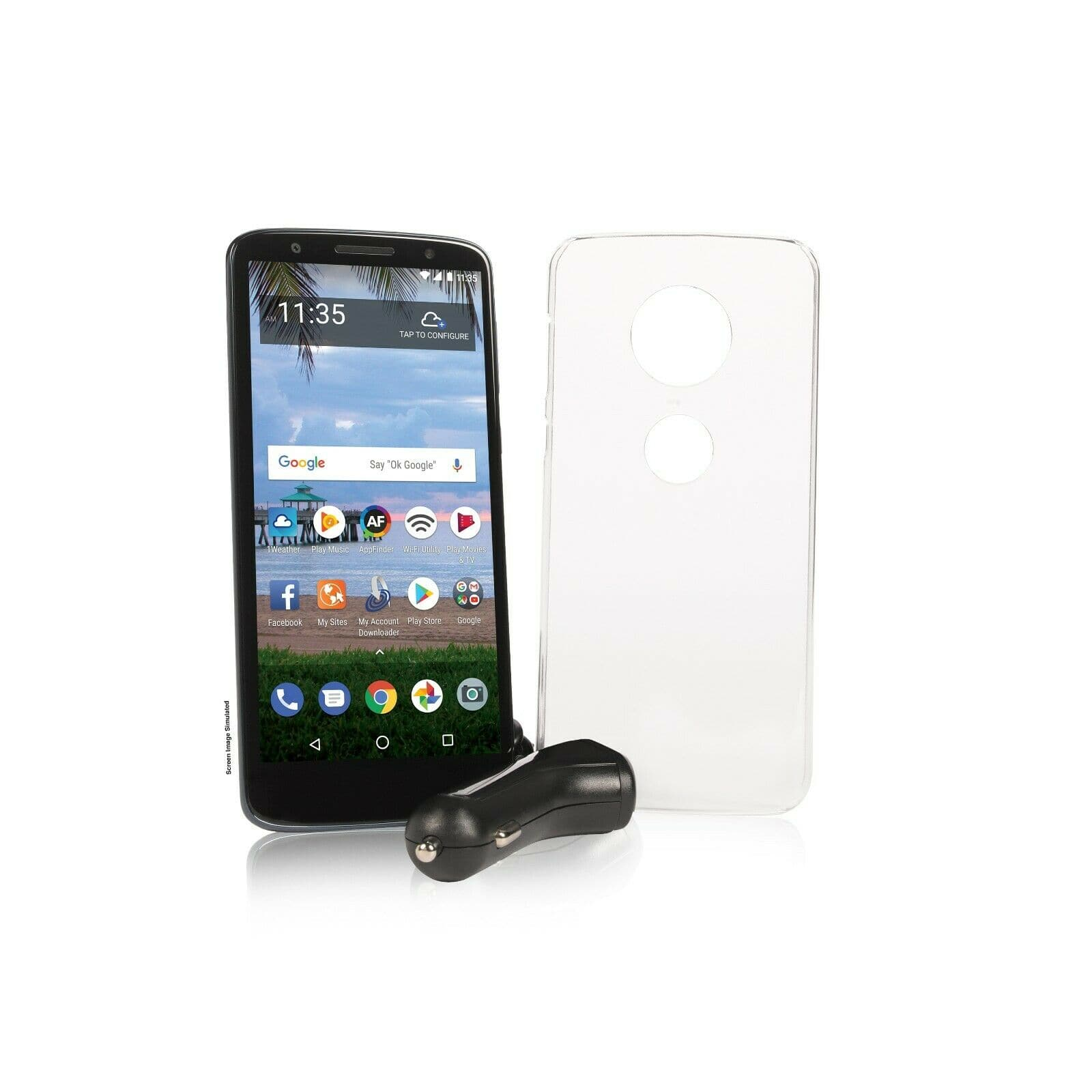 Ebay -Tracfone Moto G6 Cell Phone + 1 Year of Service 1500 MIN/1500 Text/1500MB (PER YEAR) $69.99 + tax