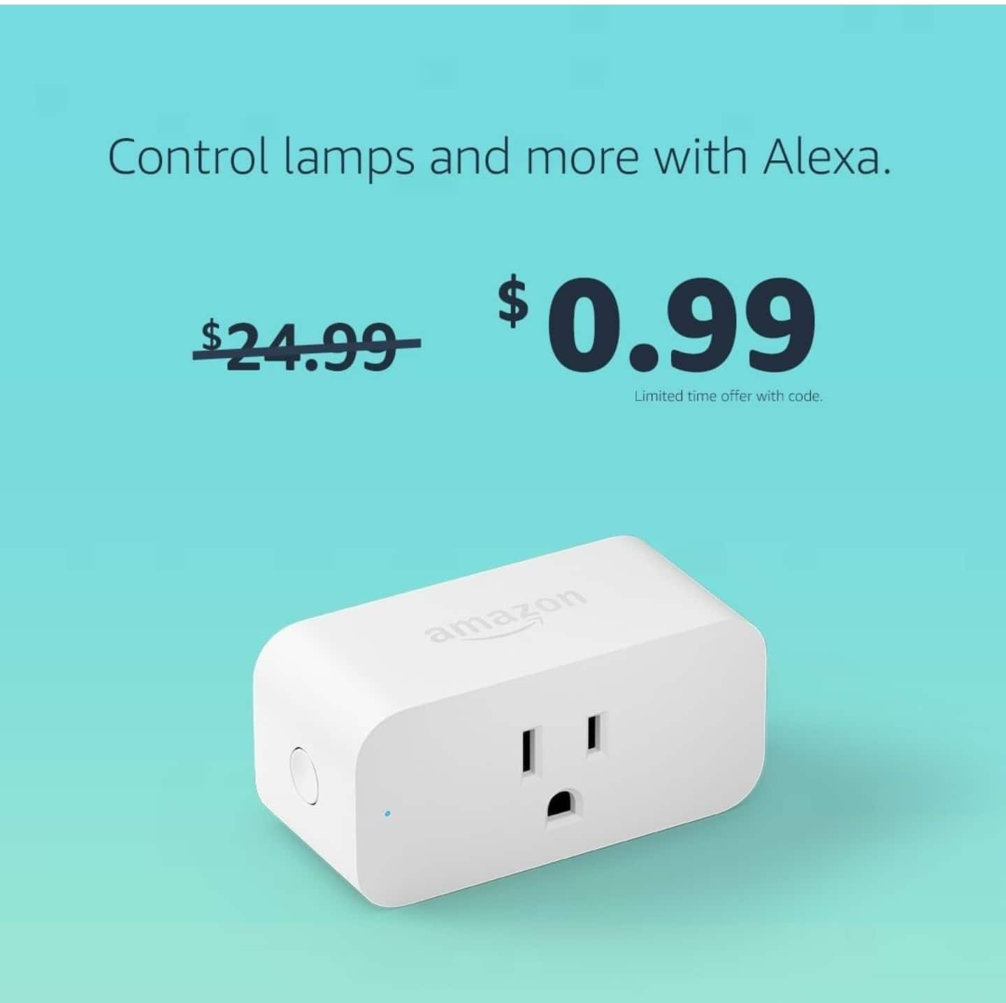 YMMV Amazon Smart Plug, works with Alexa $0.99