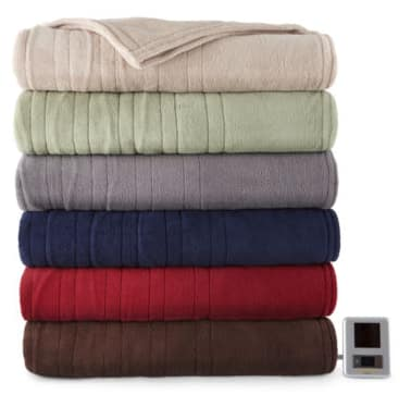 Biddeford™ Plush Heated Blanket--Twins and Full @ JC Penney for $23.99