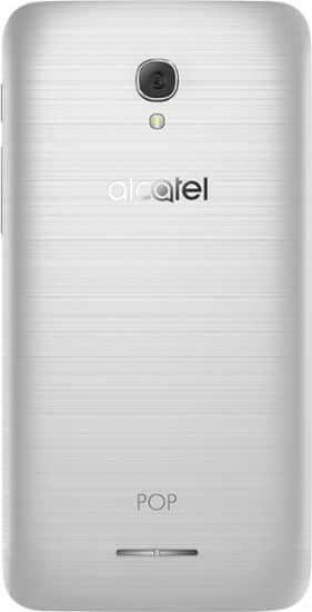 Alcatel - POP 4 Plus 4G LTE with 16GB Memory Cell Phone (Unlocked) - Metal Silver Hairbrush for $50