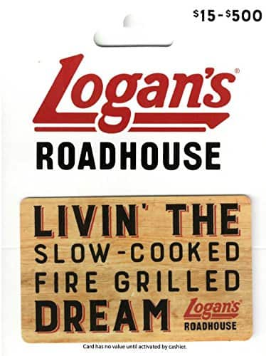Amazon: Logan Roadhouse $50 Gift Card for $40