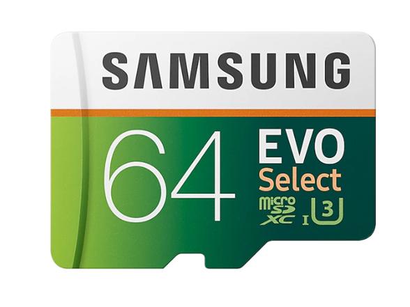 Samsung MicroSDXC EVO Select UHS-3 64GB Memory Card w/ Adapter (3-Pack) woot.com $29.99