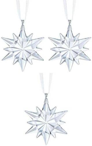 Swarovski Crystal Little Star Ornament (Pack of 3),w/ Swarovski Gift Bag 5257592 ebay $55.95