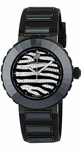 Swarovski Octea Sport Zebra Swiss Made Women's Black Watch 50 meters 5040563 Ebay.com $91.08