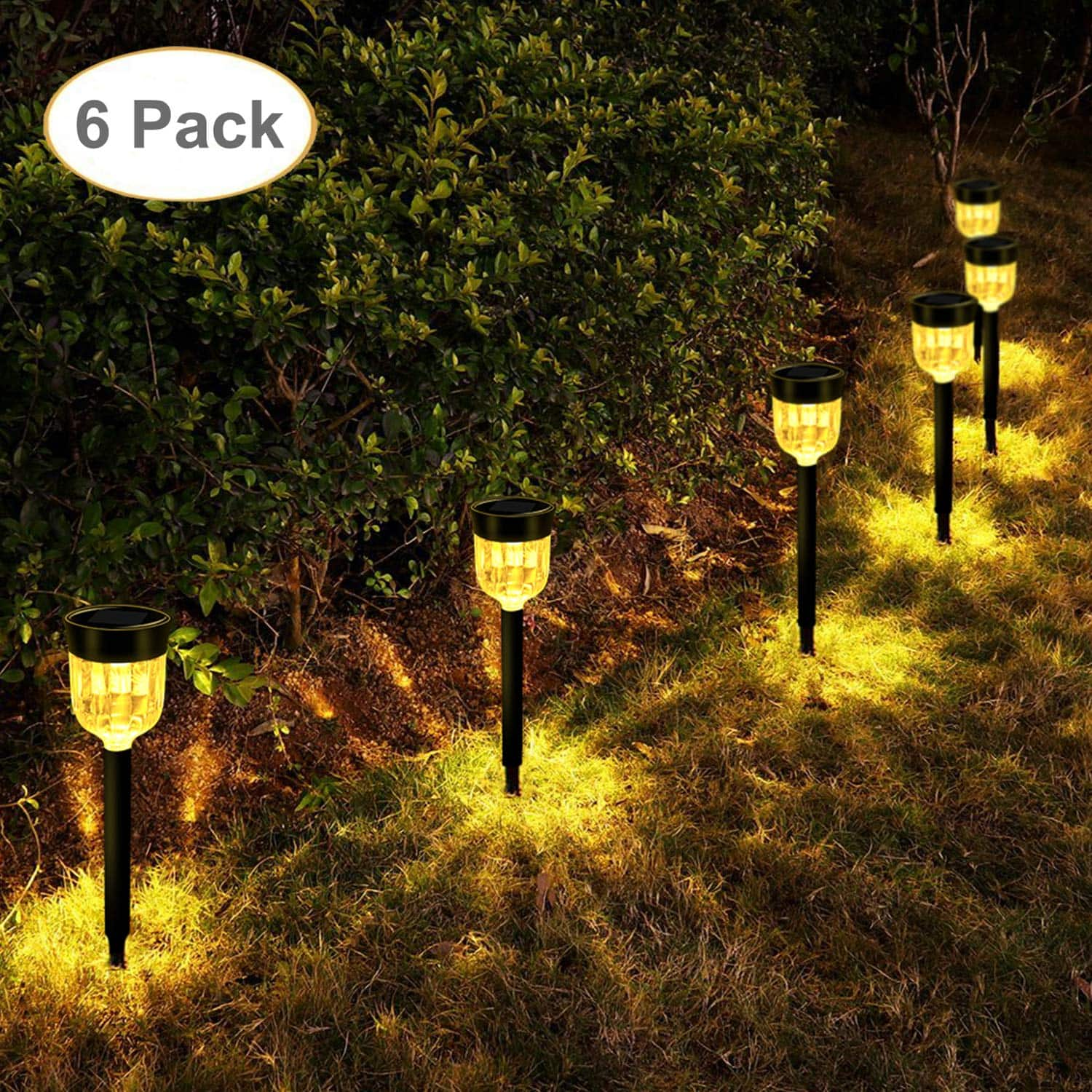 Geloo Solar Lights Outdoor Pathway Garden Landscape Lighting For 12 99 Fs Slickdeals
