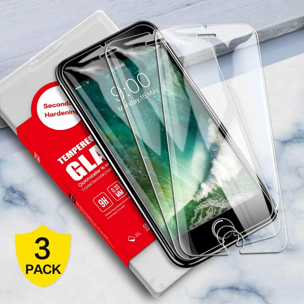 [3 Pack] SmartDevil Screen Protector for iPhone 8 Plus/7 Plus/6 Plus/6s Plus  9H Hardness,HD Tempered Glass Screen Protector for $3.62