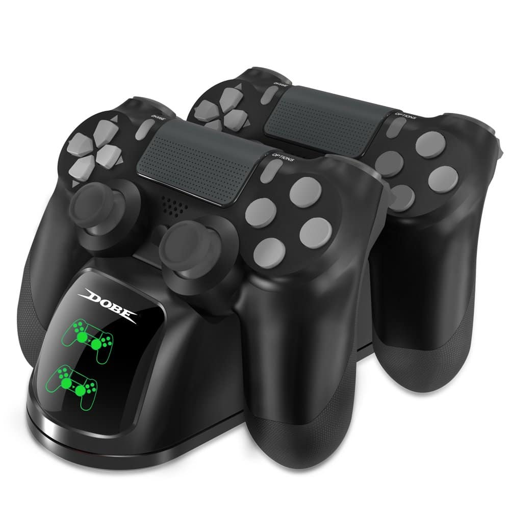 DOBE PS4 Controller Charger, Dual Shock 4 Controller Charging Docking Station for $7.97