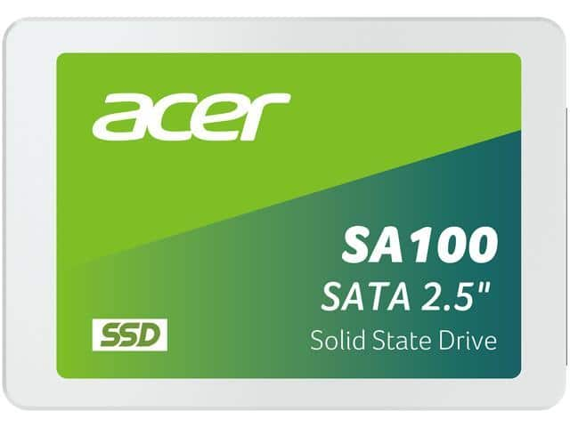 """Acer SA100 2.5"""" 960GB SATA Internal Solid State Drive for $80+FS at Newegg"""