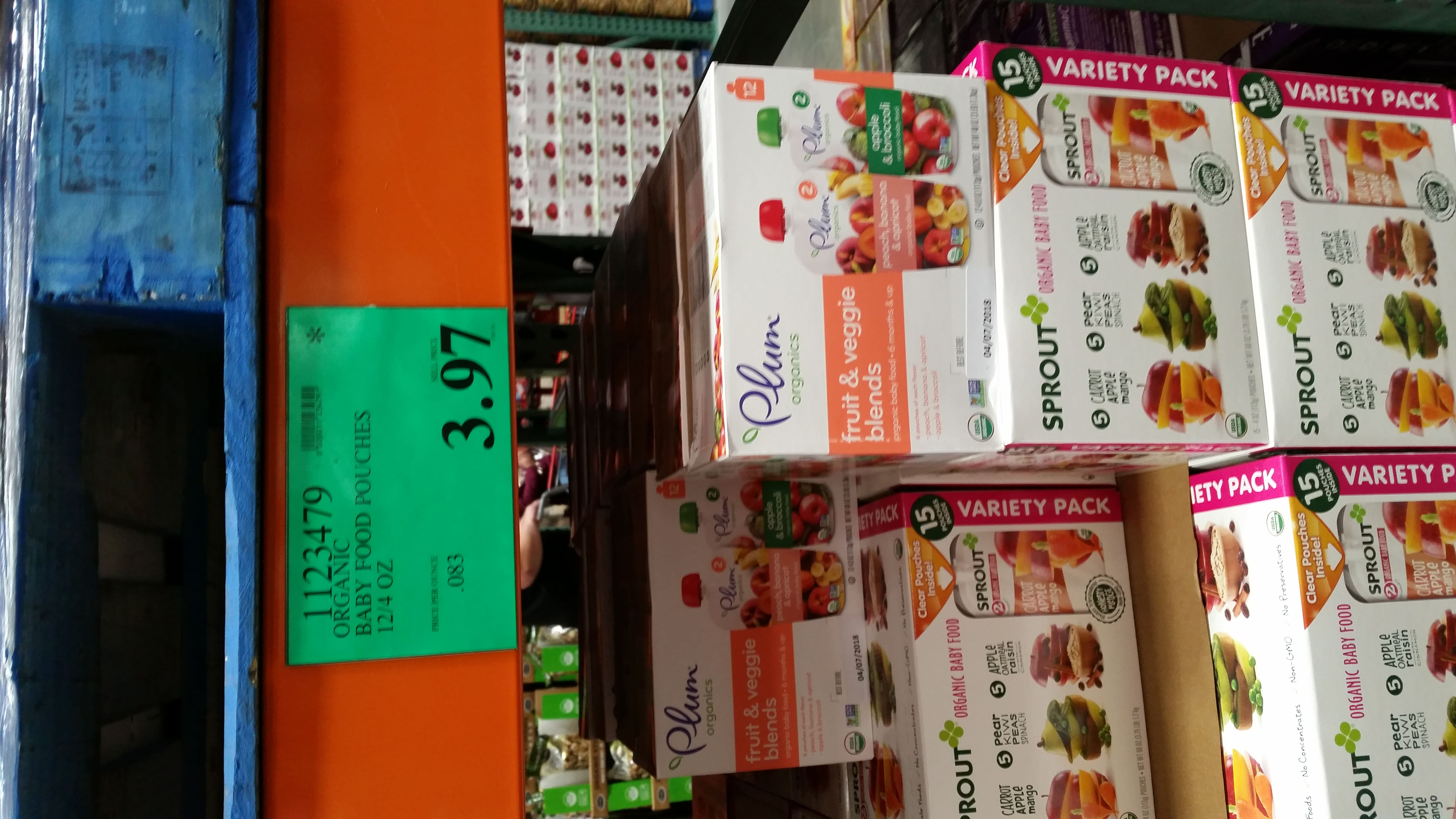 Plum Organics Pouches Fruit and Veggie Blends 12 pack $3.97 Costco YMMV