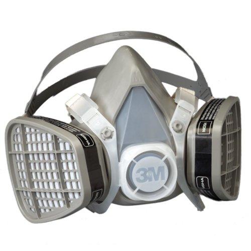 3M Half Facepiece Disposable Respirator Assembly 5201/21571, Organic Vapor Respiratory Medium ($16.38)