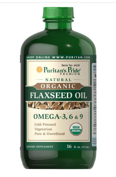 Puritan's Pride Organic Flaxseed Oil, Cold-Pressed, 16 Fluid Ounces ($6.74 after 20% coupon + Free Ship via Prime)