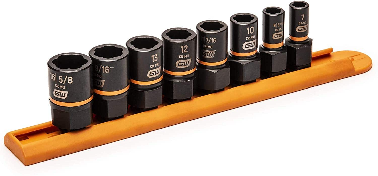 "GEARWRENCH 8 Pc. 1/4"" & 3/8"" Drive Bolt Biter Impact Extraction Socket Set - 84782 ($22.07 After Clip and Save Coupon + Free Prime Ship)"