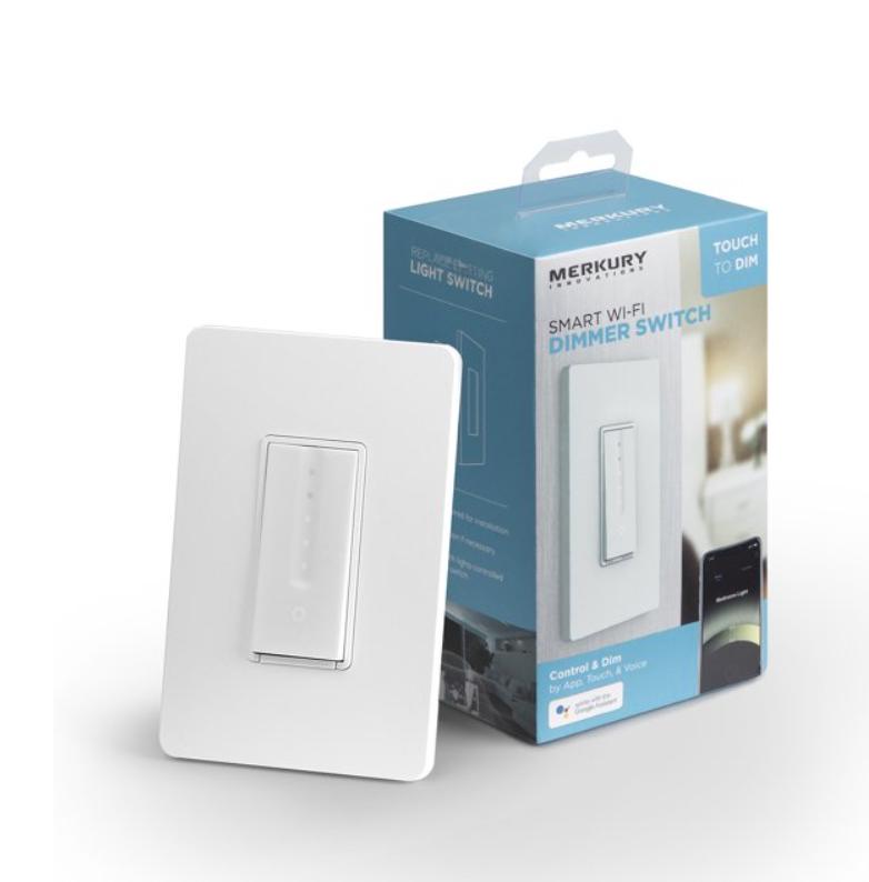 Merkury Innovations Smart Dimmer Switch $13.88 + Free store pick up at Walmart