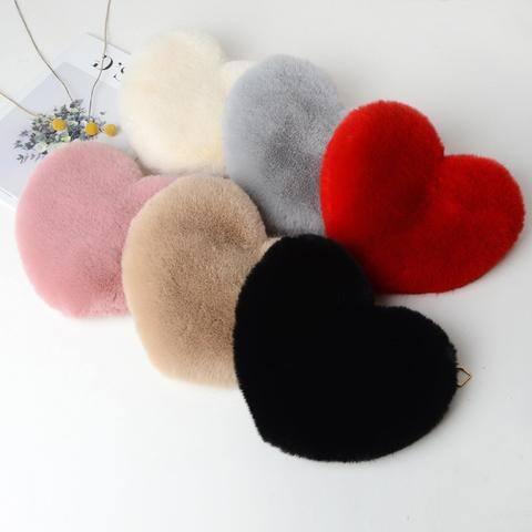 Plush Heart-Shaped Chain Bag $10.99 +Free shipping