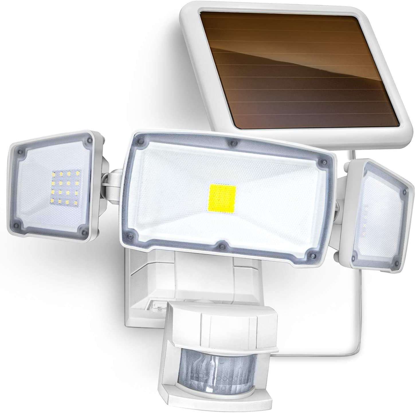 Solar Motion Sensor Security Light with 1500 Lumen Triple Head LED $19.79 + Free Shipping w/ Prime