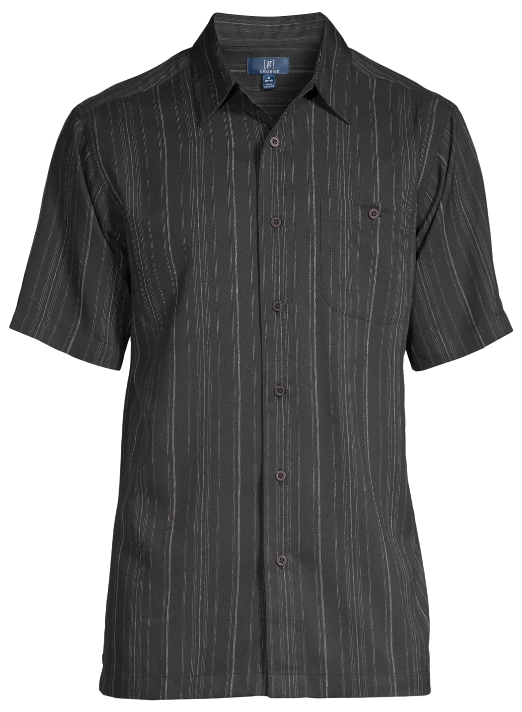 George Men's Short Sleeve Button Down Microfiber Shirt (8 colors, up to size 3XL) $5 + Free pickup at Walmart
