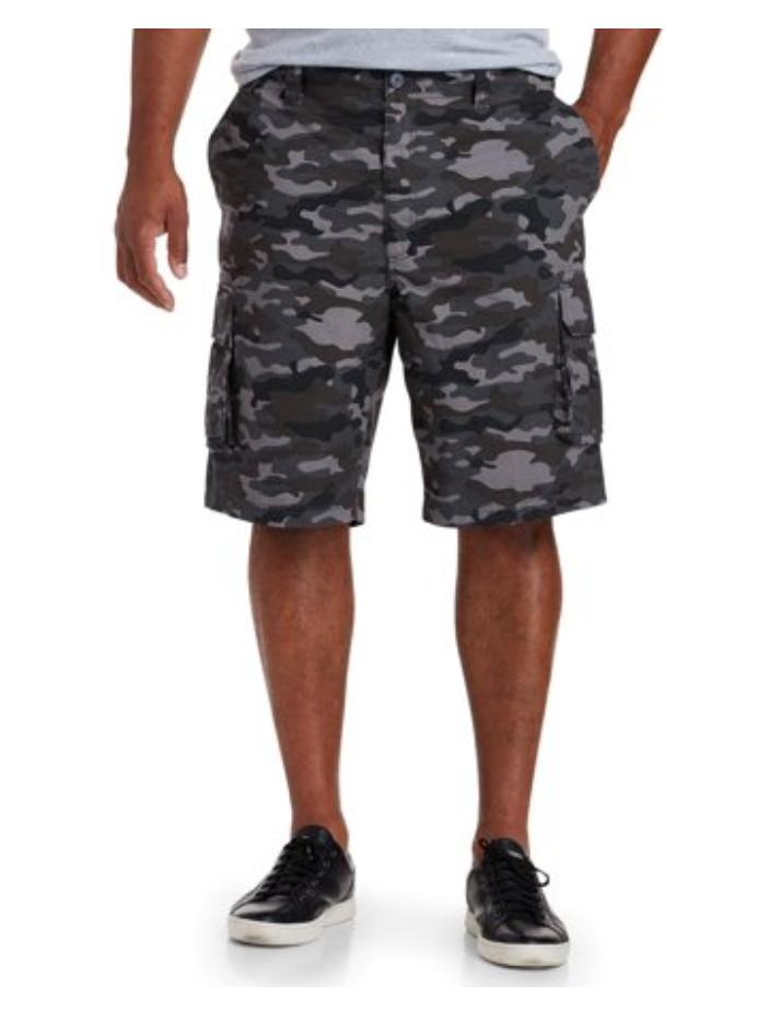 Men's Big & Tall Canyon Ridge Ripstop Cargo Shorts (grey camo) $5.15 + Free store pick up at Walmart