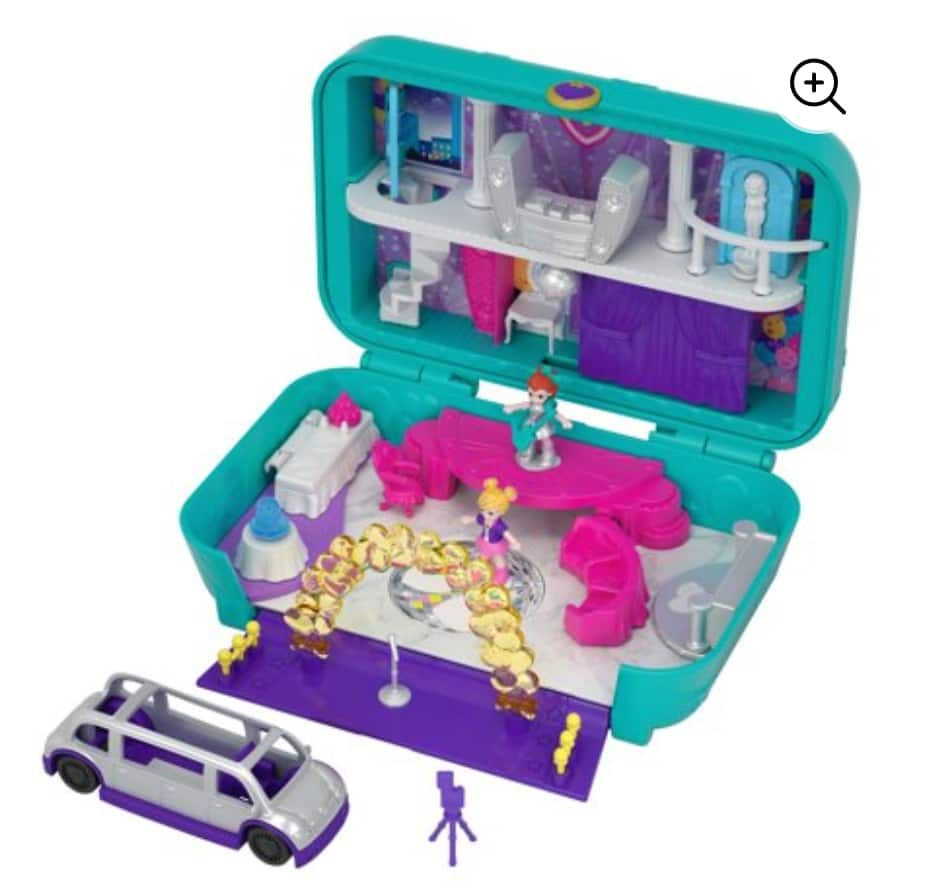 Polly Pocket Hidden Places Dance Par-taay Case Set with Accessories $8 + Free store pickup at Walmart