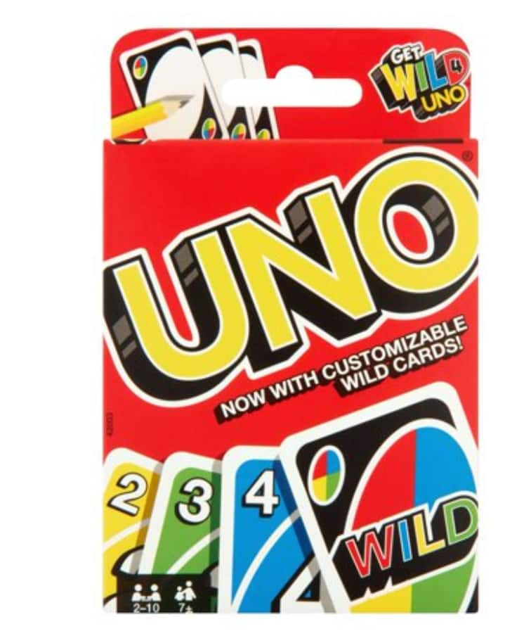 UNO Color & Number Matching Card Game $4 + Free store pickup at Walmart