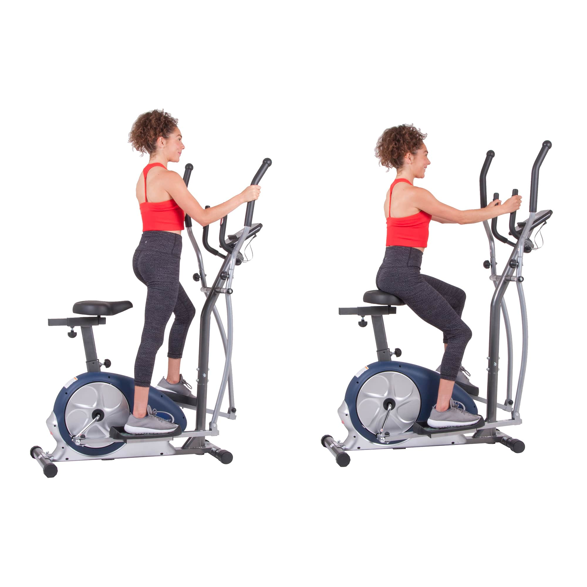 Body Champ BRM3671 Elliptical and Exercise Bike Dual Trainer $160 + Free shipping