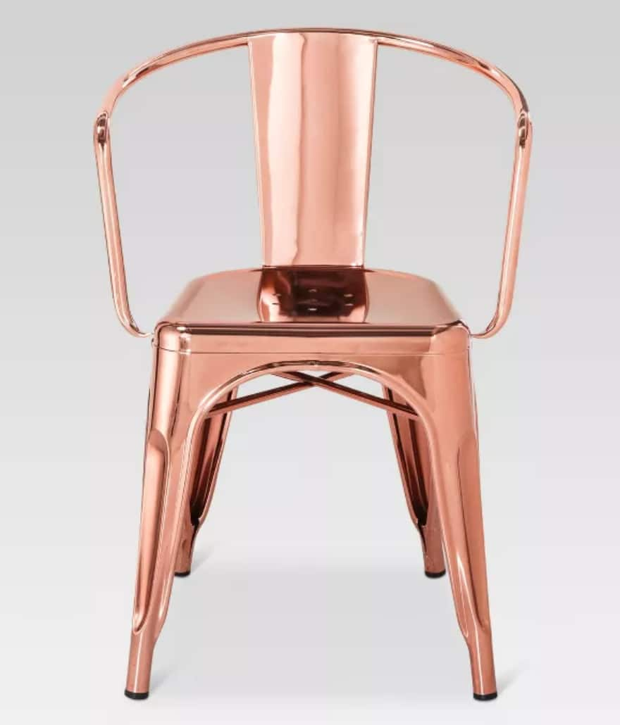 Threshold Carlisle Metal Dining Chair Rose Gold $66 + Free shipping via Target