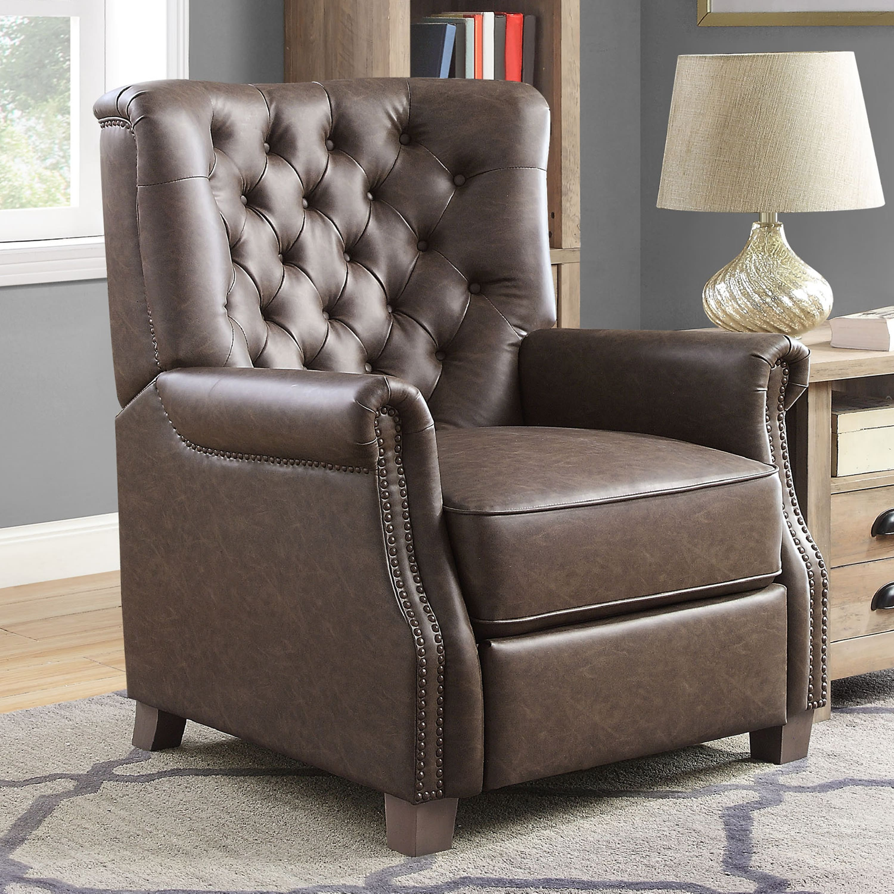 Better Homes and Garden Tufted Push Back Recliner (Brown Faux Leather) $151.51 + Free shipping