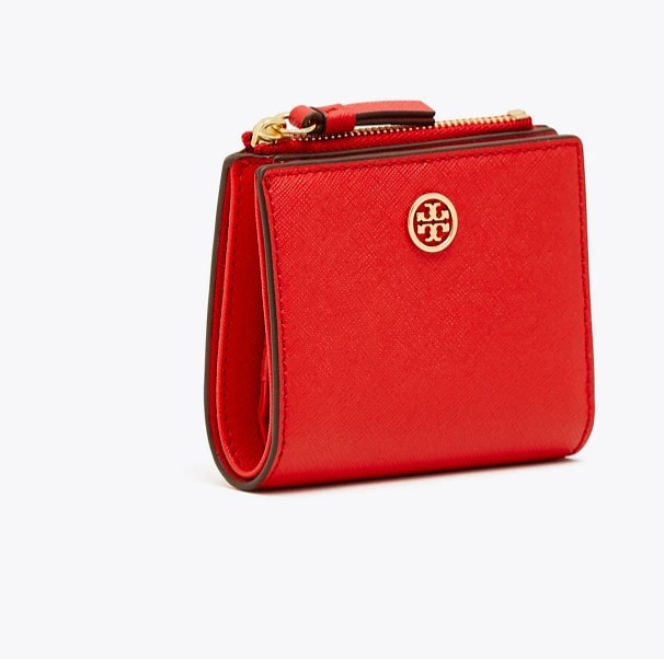 Tory Burch Robinson Mini Wallet Brilliant Red $74.25 + Free shipping
