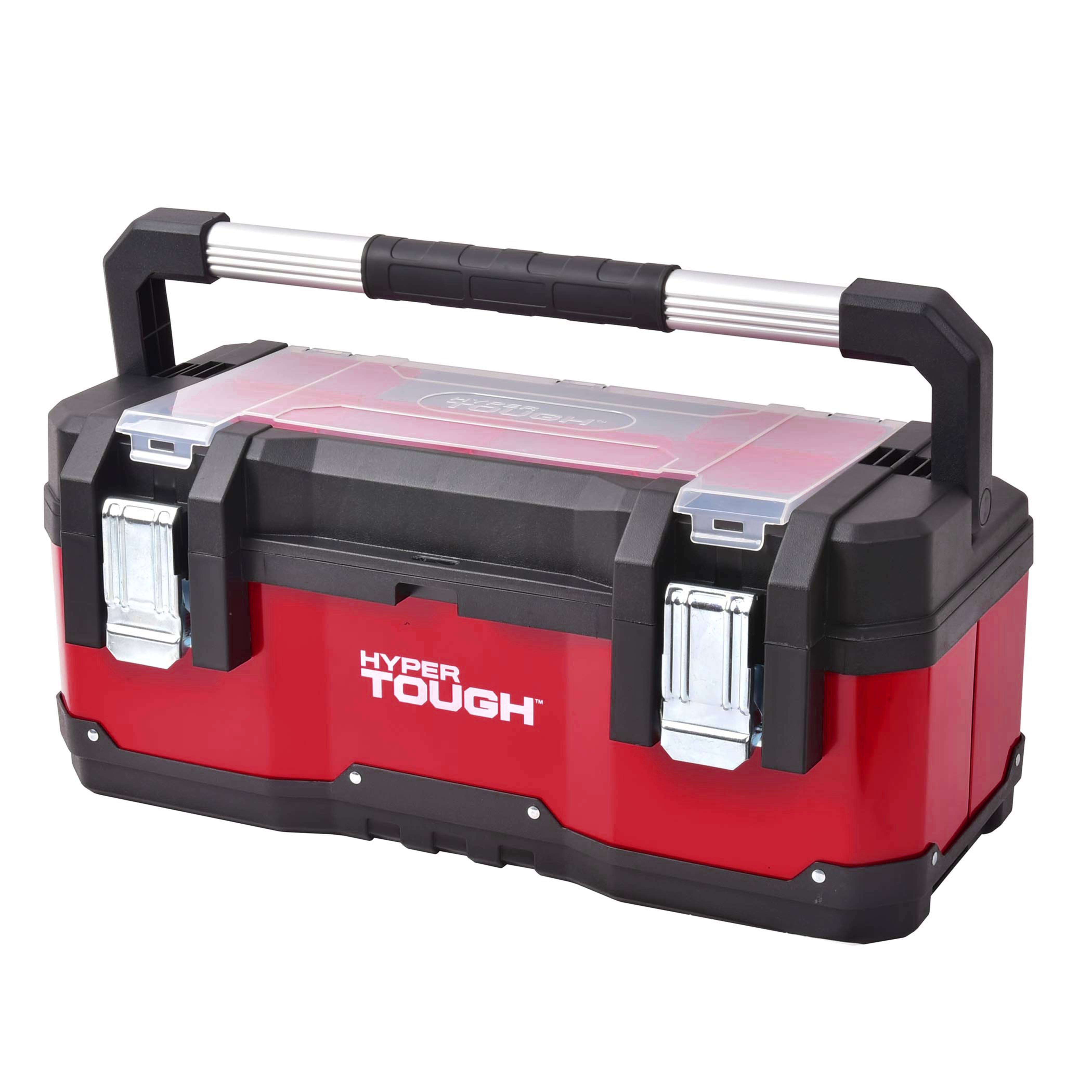 "Hyper Tough 23"" Portable Tool Box w/ organizer trays $25 + Free store pickup at Walmart"