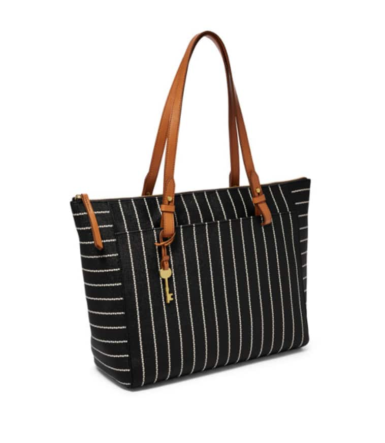 Fossil Rachel Tote with Zipper (Black) $55.10 + Free shipping