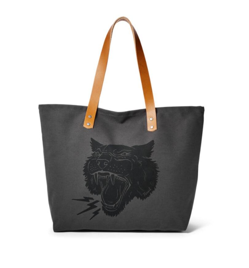 Fossil Panther Tote with leather straps $13.30 + Free shipping