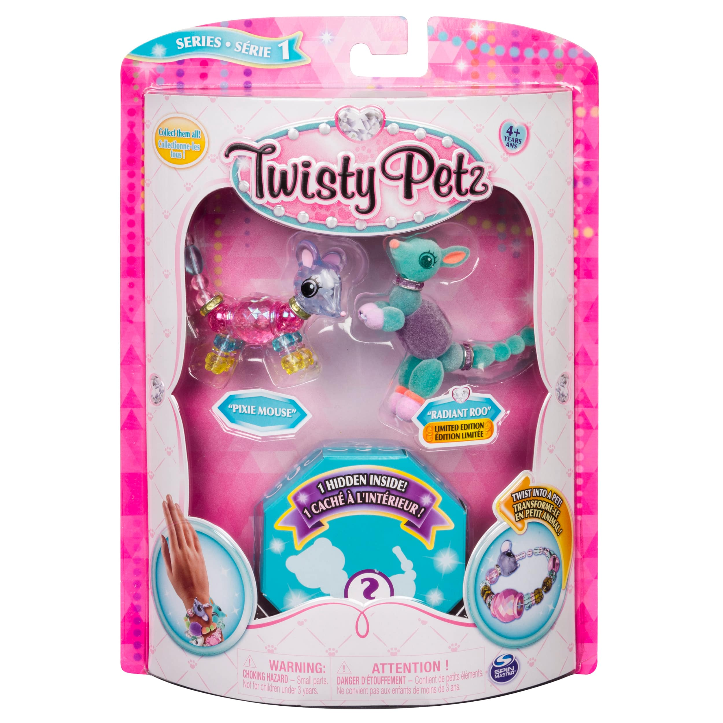 3-pack Twisty Petz Pixie Mouse, Radiant Roo and Surprise Collectible Bracelet Set $2.21 + Free ship w/ $35