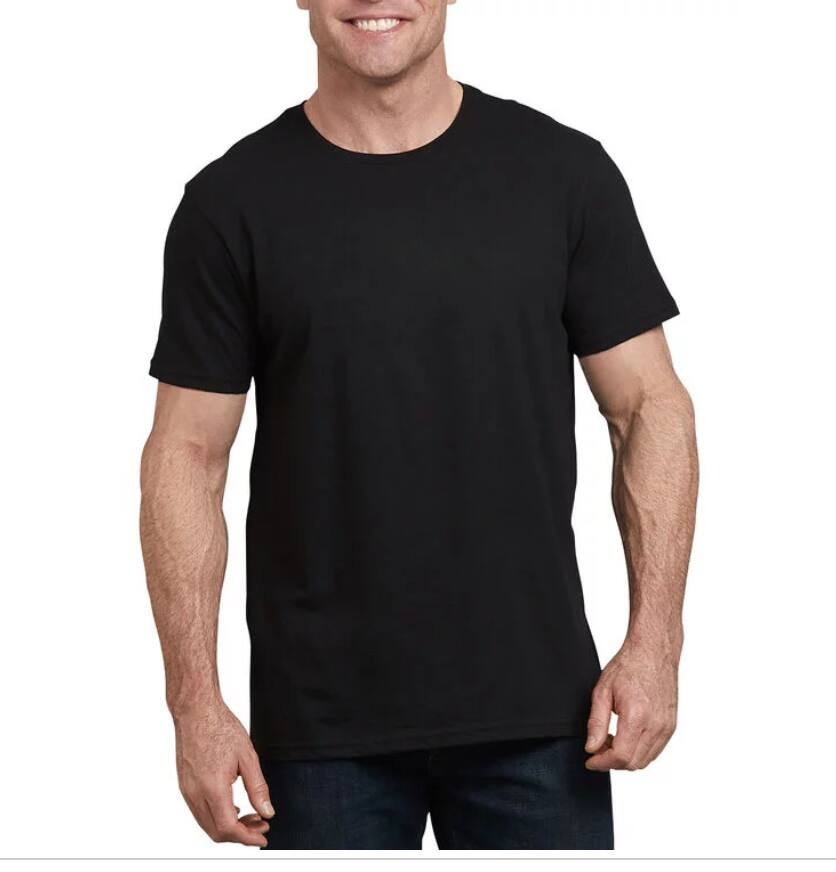 Dickies Short Sleeve Crew Neck T-Shirt (Black) $5 + Free shipping