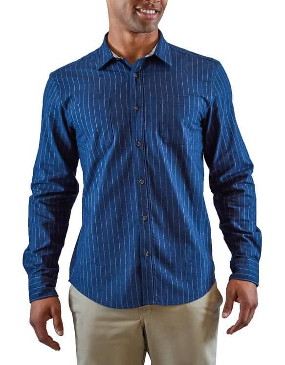 Dickies Heritage Long Sleeve Shirt (Blue) $15 + Free shipping